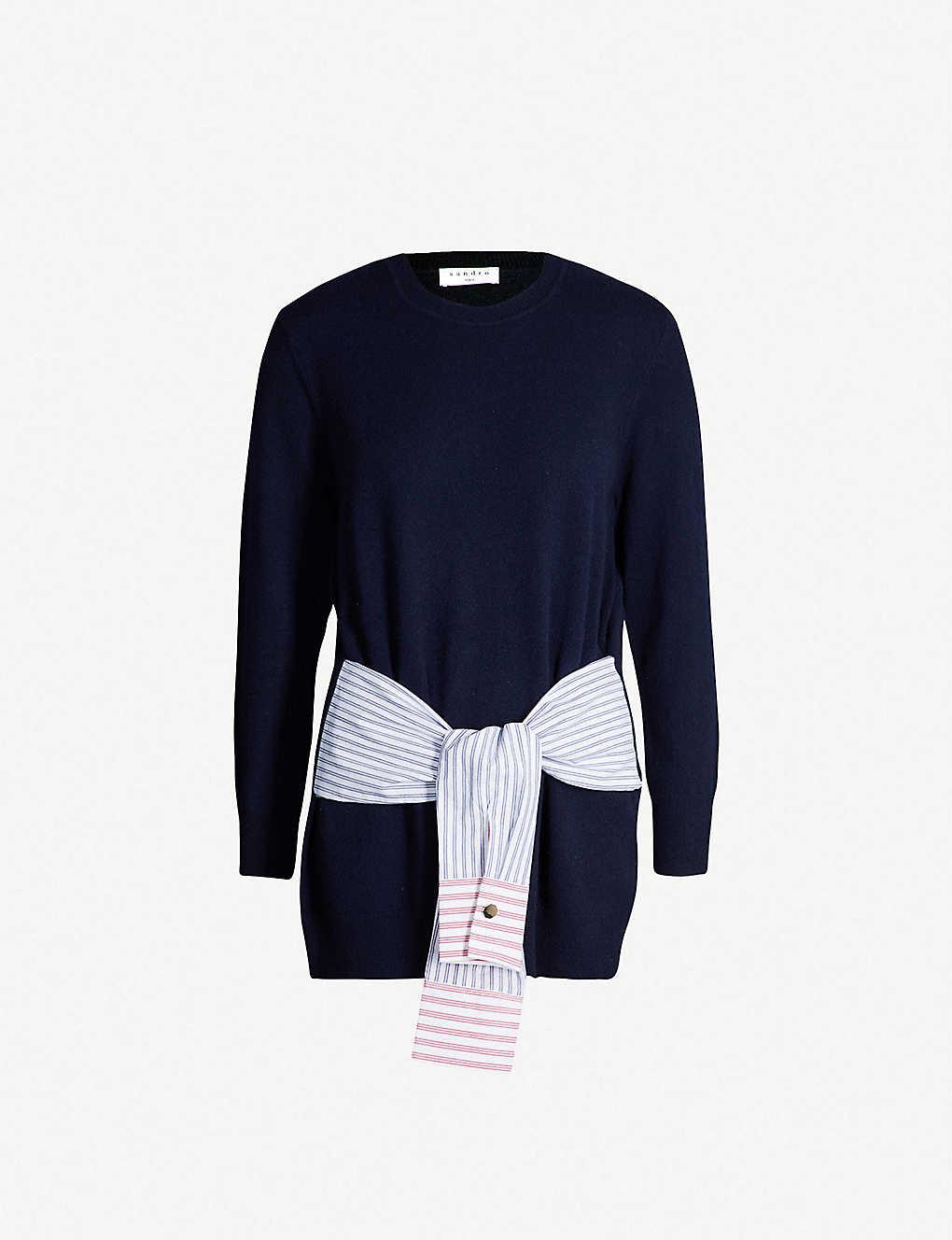 c10eabdb SANDRO - Suzanne wool and silk-blend jumper | Selfridges.com