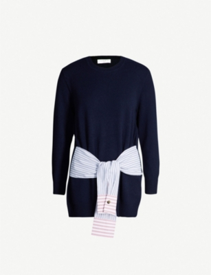 SANDRO Suzanne wool and silk-blend jumper
