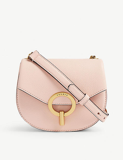 5c7fff2d8714 SANDRO - Pepita leather shoulder bag