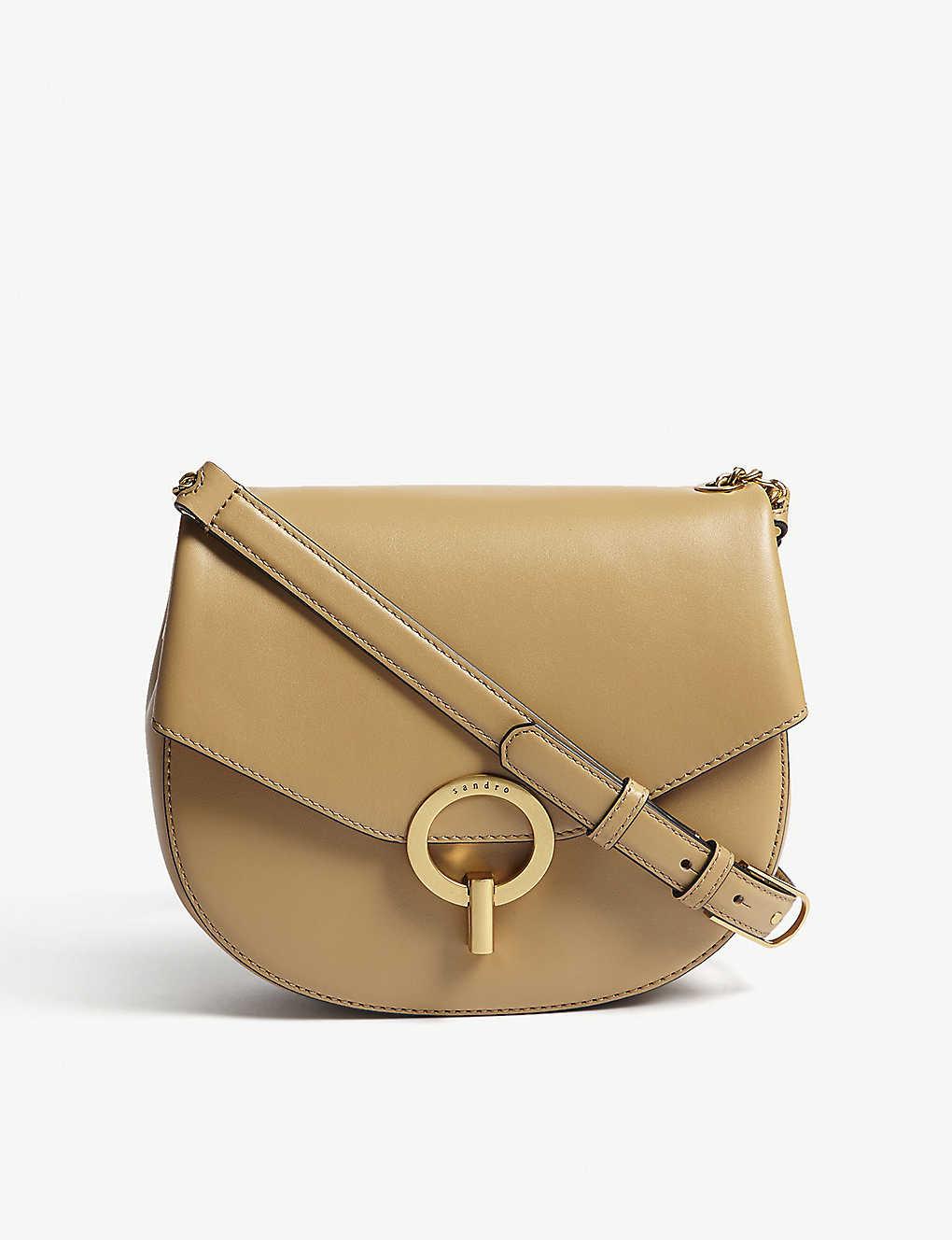 79b1a657fadc SANDRO - Pepita leather cross-body bag