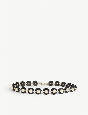 SANDRO Celi studded leather belt