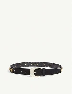 SANDRO Chrisly studded leather belt