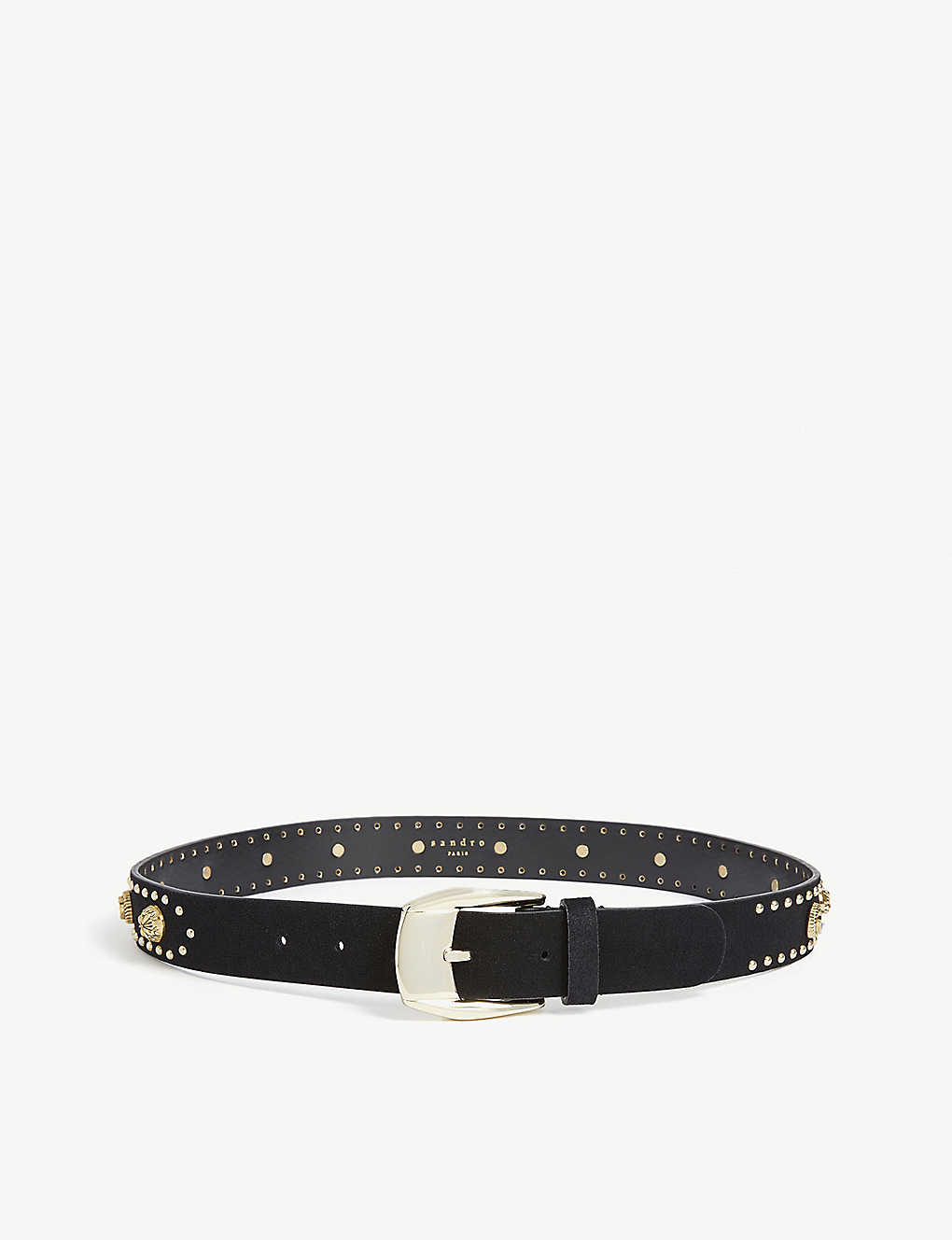 SANDRO: Chrisly studded leather belt