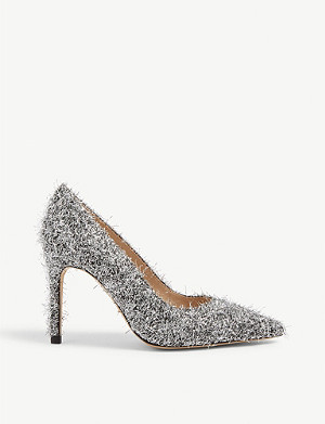 SANDRO Metallic wool-and-silk blend courts