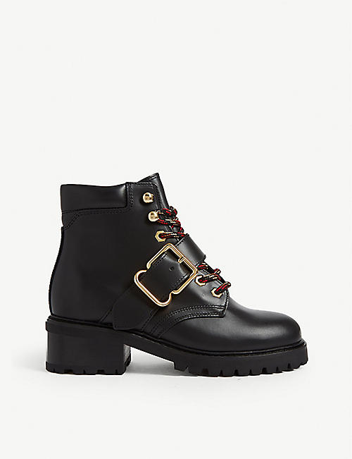 SANDRO Grant leather ranger boots