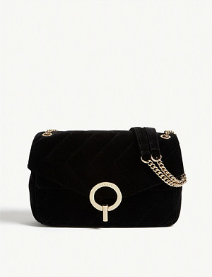 SANDRO Velvet shoulder bag