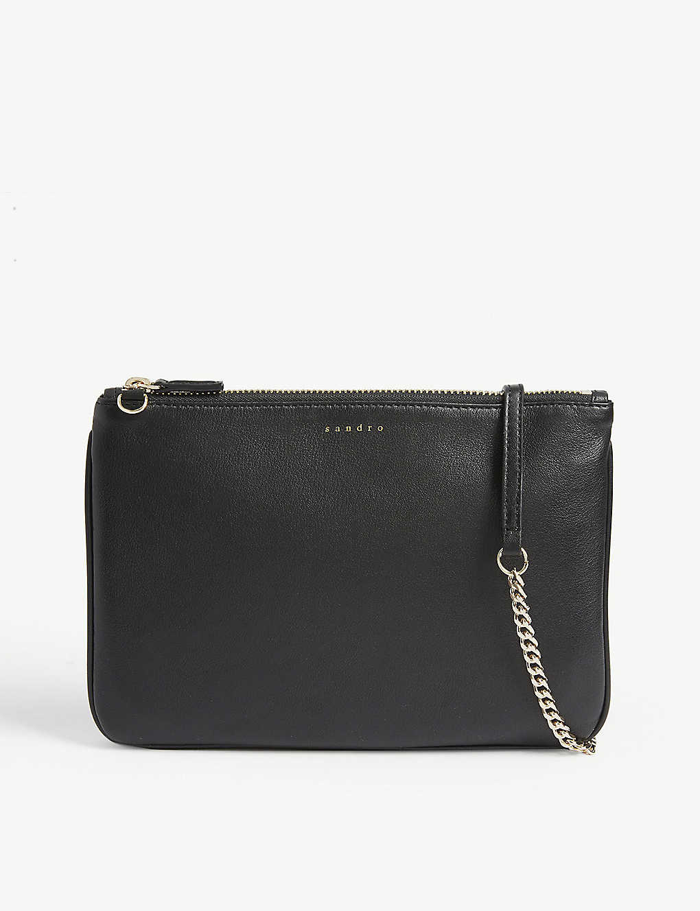 SANDRO: Leather pouch bag
