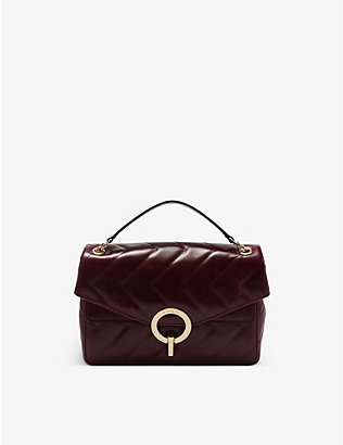 SANDRO: YZA quilted leather shoulder bag