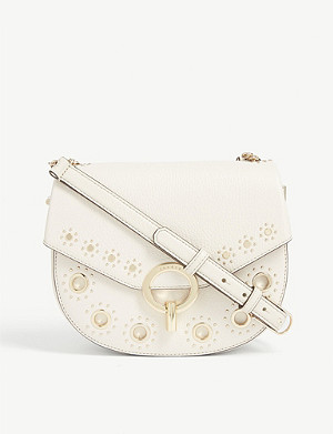 SANDRO Pepita leather shoulder bag