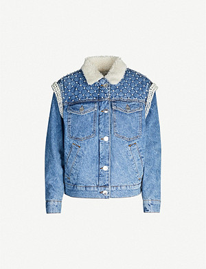 SANDRO Embellished denim jacket
