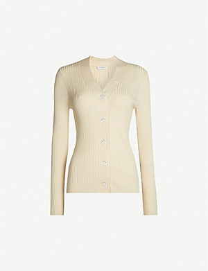 SANDRO Gabrielle ribbed knitted cardigan