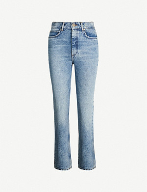 SANDRO Straight high-rise jeans