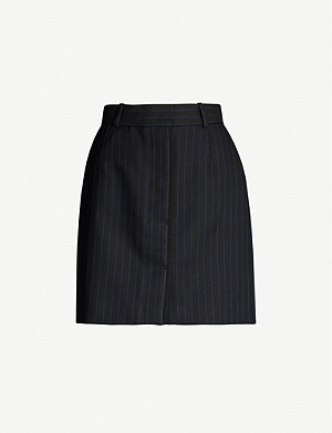 SANDRO Dana striped woven mini skirt