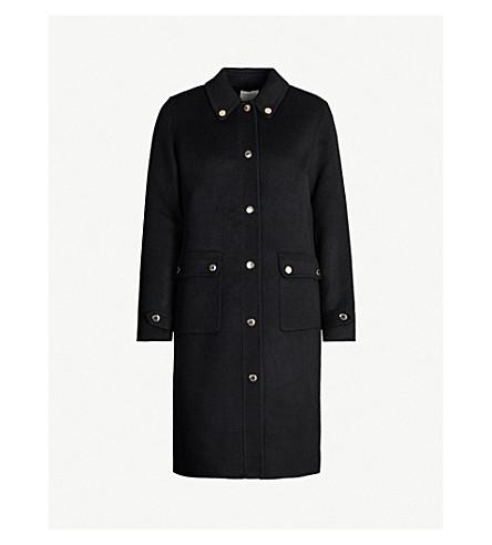 Sandro Coats Gilded-button wool-blend coat