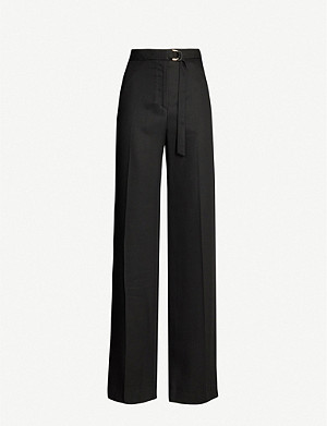 SANDRO High-rise wide-leg lyocell trousers