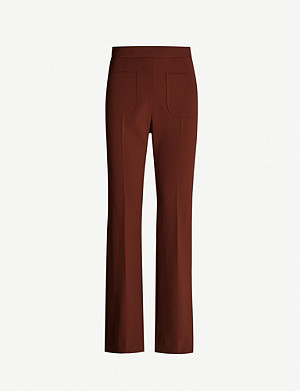 SANDRO Bloone slim-fit straight stretch-crepe trousers