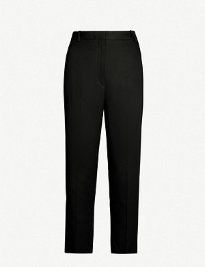 SANDRO Cropped high-rise trousers