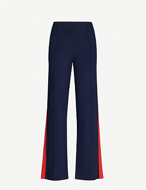 SANDRO Jog high-rise straight woven trousers