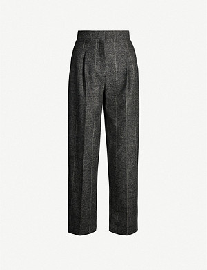 SANDRO High-rise woven trousers