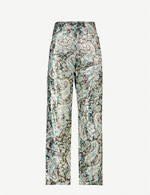 SANDRO Peter wide-leg woven trousers