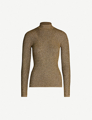 SANDRO Metallic fitted woven jumper
