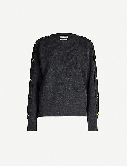 SANDRO Wool and cashmere-blend jumper