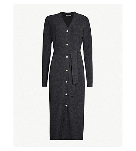Sandro Dresses Cosy faux-pearl-embellished wool and cashmere-blend midi dress