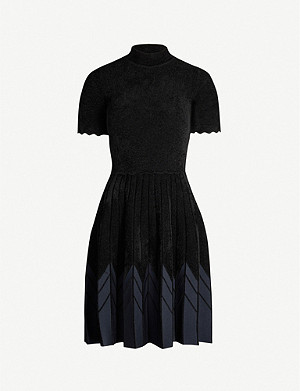 SANDRO Arnis graphic-pattern chenille mini dress