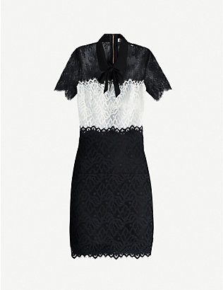 SANDRO: Rozen lace-panel dress