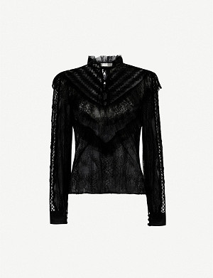 SANDRO Lacey lace shirt
