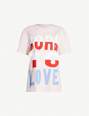 SANDRO Born to Love print cotton-jersey T-shirt