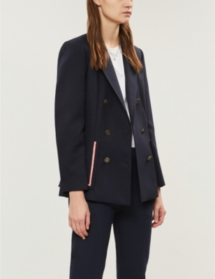 Double Breasted Crepe Blazer by Sandro