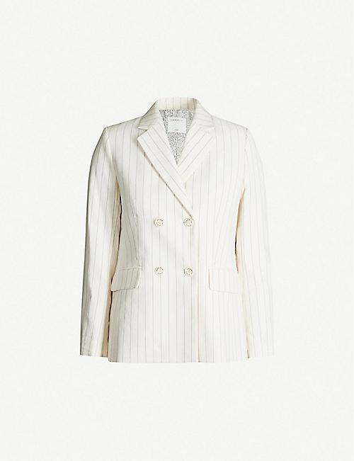 872713b8a3 SANDRO Striped double-breasted twill blazer