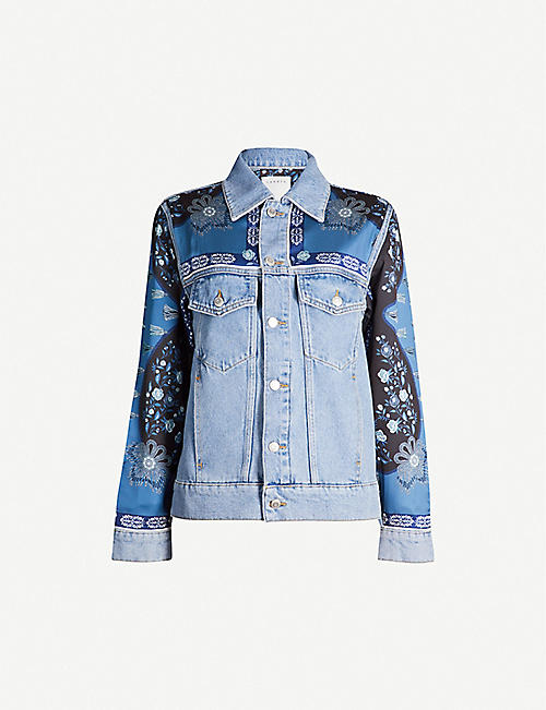 sports shoes 77280 0df52 SANDRO Printed insert denim jacket
