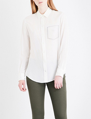 JOSEPH New Garcon silk-crepe de chine blouse