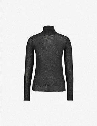 JOSEPH: Turtleneck semi-sheer cashmere jumper