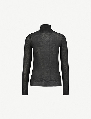 JOSEPH Turtleneck semi-sheer cashmere jumper
