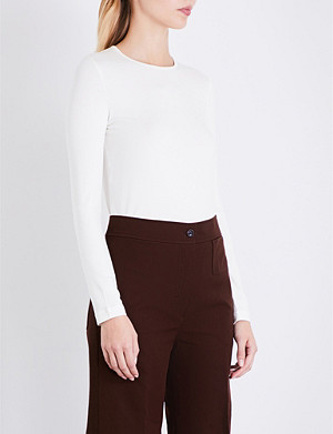 JOSEPH Round neck stretch-jersey top