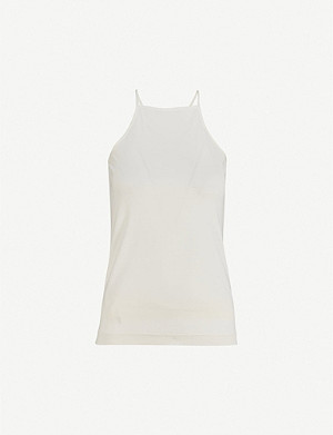 JOSEPH Racer-back silk top