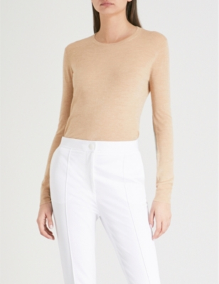 00b14a424f5 JOSEPH - Cashair elbow patch cashmere jumper | Selfridges.com