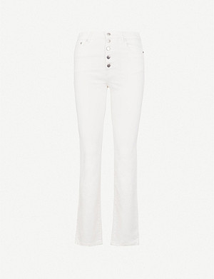 JOSEPH Den straight slim-fit stretch-gabardine trousers