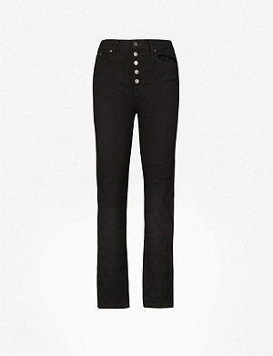 JOSEPH Slim-fit straight cropped stretch-woven trousers