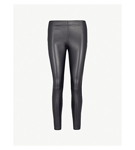f5d48edc4b8564 JOSEPH - Panelled leather leggings   Selfridges.com