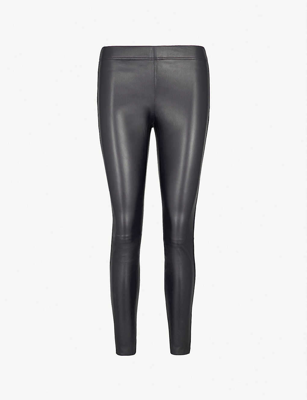 04d799a5c248e6 Panelled leather leggings zoom; Panelled leather leggings zoom ...