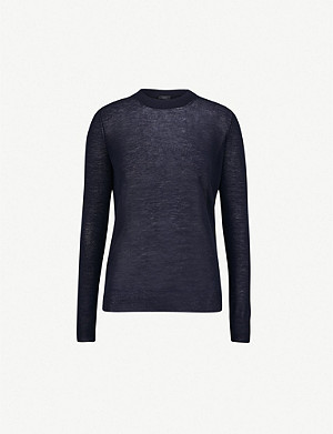 JOSEPH Semi-sheer cashmere jumper