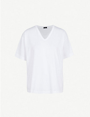 JOSEPH: V-neck cotton-jersey T-shirt
