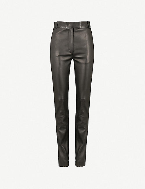 cc43277fb46 JOSEPH Reeve stretch-leather mid-rise skinny trousers