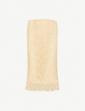 JOSEPH Wini split-hem crochet-lace skirt