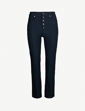 JOSEPH Den straight slim-fit stretch trousers