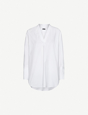JOSEPH Eamon V-neck cotton shirt